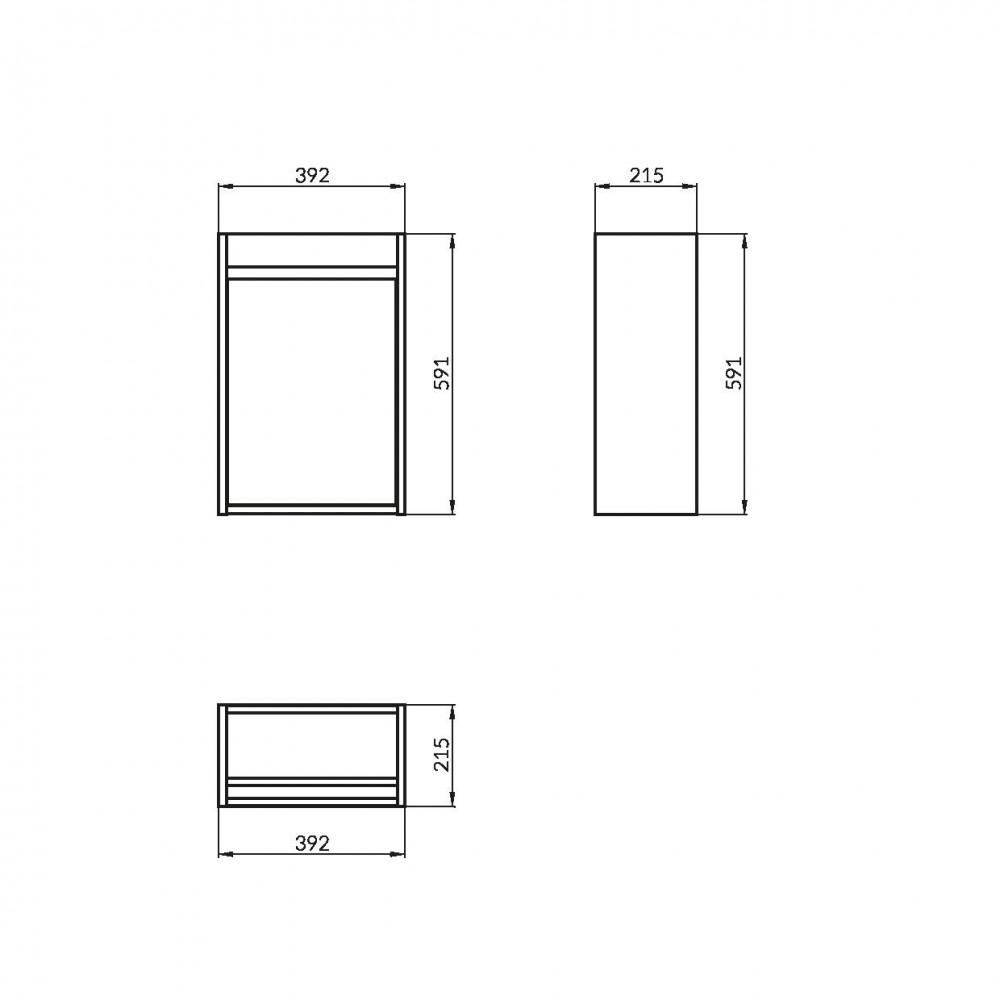Mobilier pentru lavoar Cersanit Crea, 40 cm, stejar