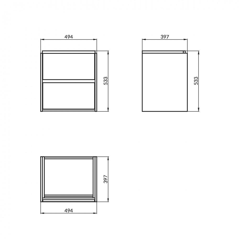 Mobilier pentru lavoar Cersanit Crea, 50 cm, gri mat