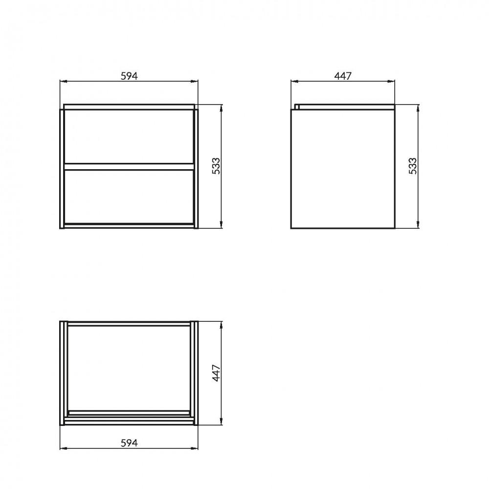 Mobilier pentru lavoar Cersanit Crea, 60 cm, gri mat