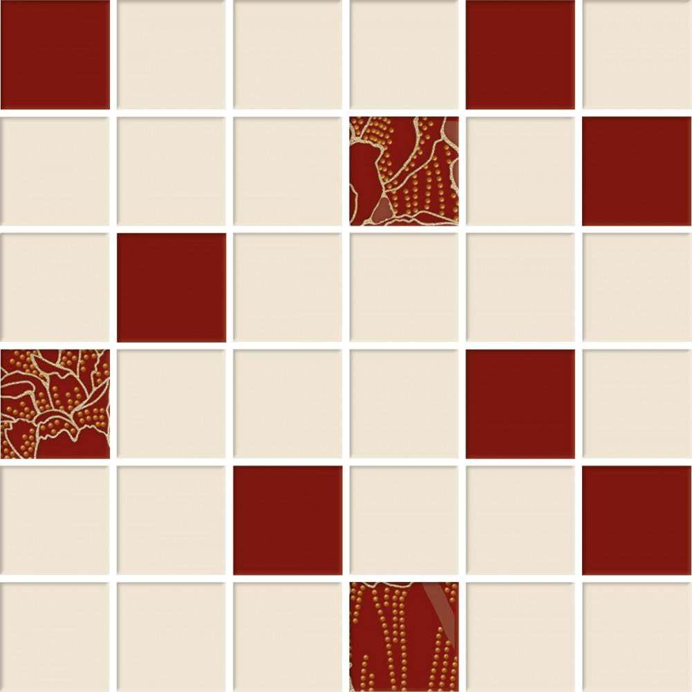 Mozaic Cesarom® E-PROJECT 30x30/ 4.7x4.7 cm, bordo