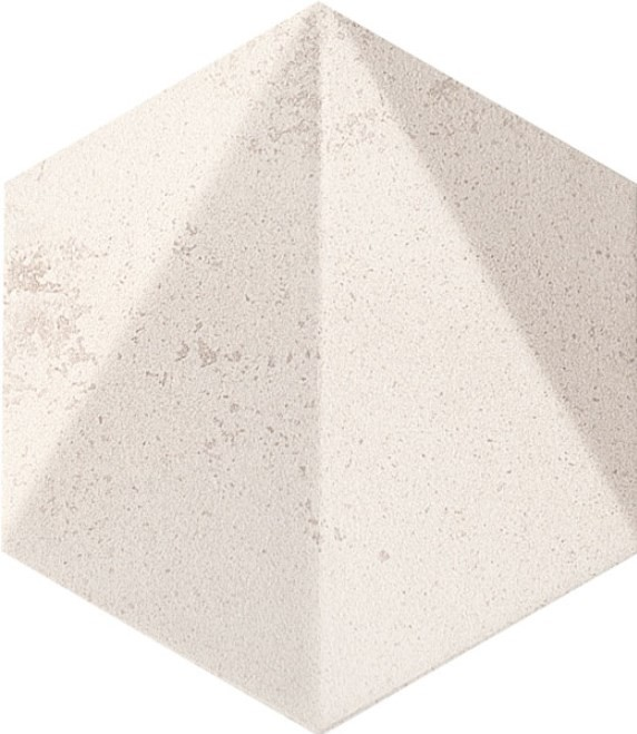 Decor Tubadzin Free Space hex str 11x12.5, white