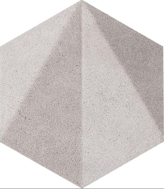 Decor Tubadzin Free Space hex str, 11x12.5 cm, grey