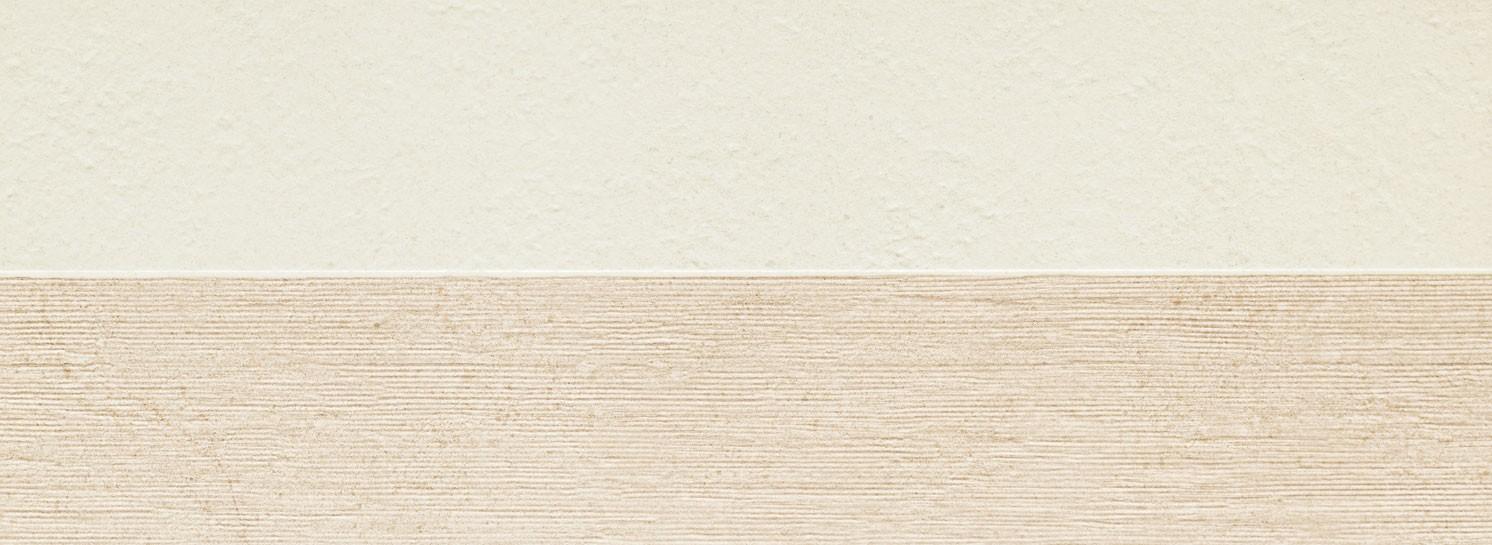 Faianta Tubadzin Balance str, 32.8x89.8 cm, ivory / grey