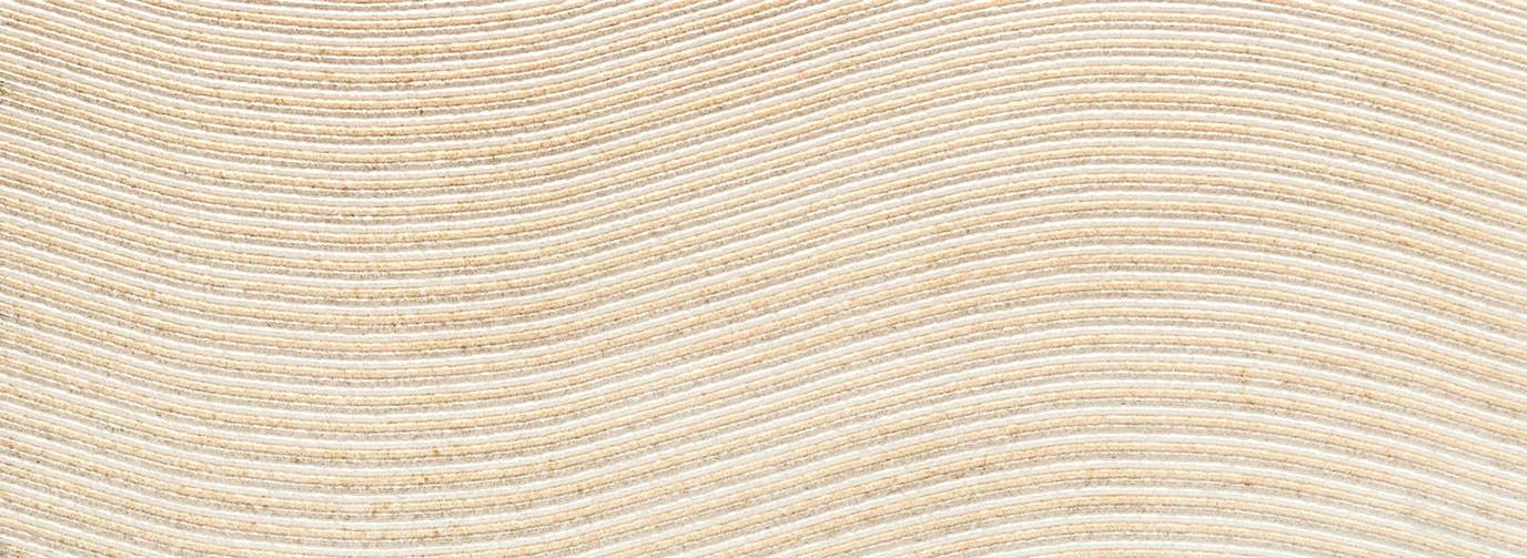Decor Tubadzin Balance wave str, 32.8x89.8 cm, ivory
