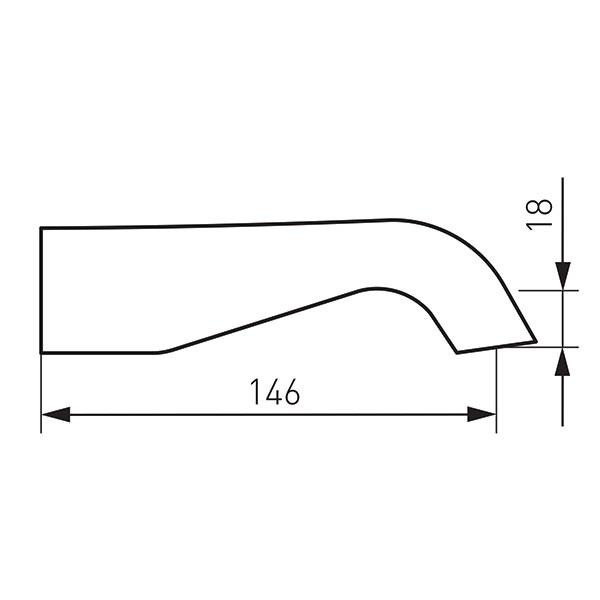 Pipă fixă Ferro Wwp01, pentru baterie incastrata, crom