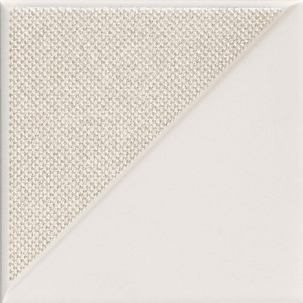 Decor Tubadzin Reflection  2 14,8x14,8 cm, white