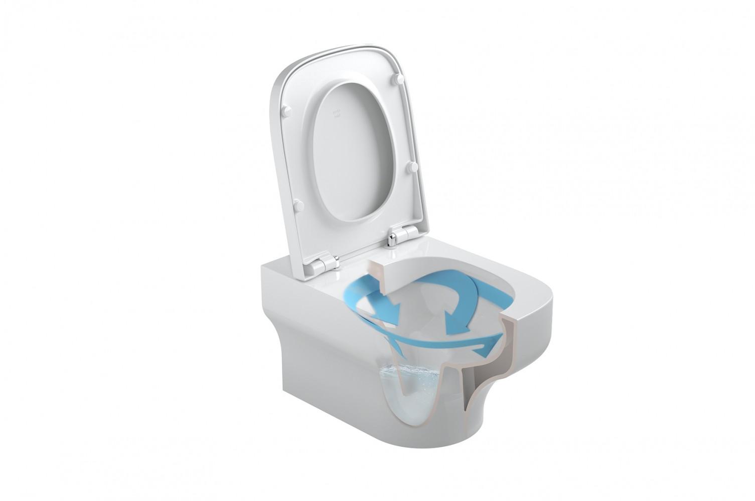 Vas WC suspendat Gala Mid Rimless