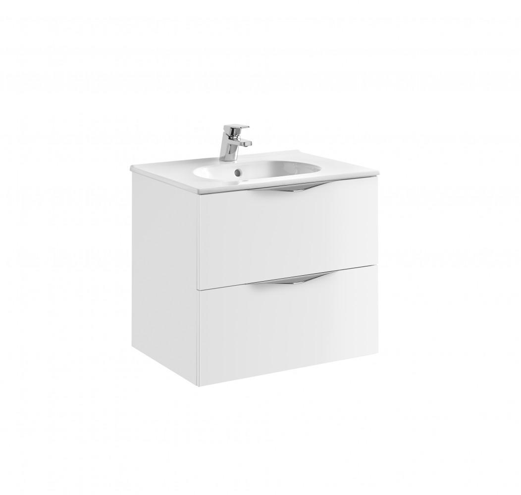 Set mobilier suspendat Gala Agata  Mdf si lavoar  Klea  60 cm, alb
