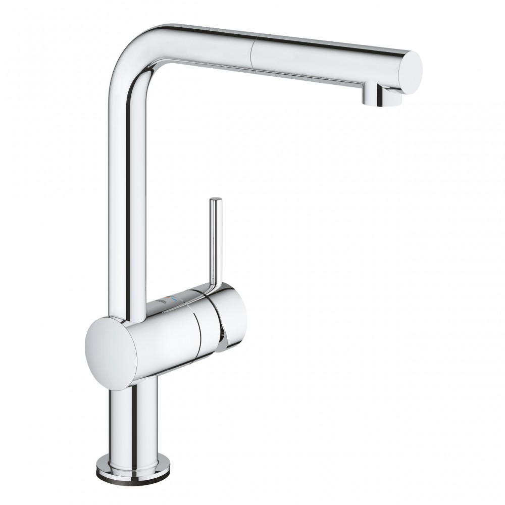 Baterie bucatarie electronica Grohe Minta Touch cu dus extractabil