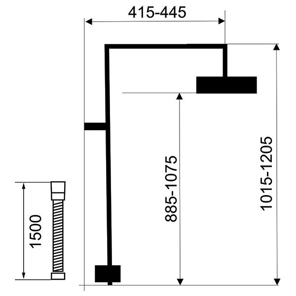 Set duș pentru baterii de duș cu ieșire superioară