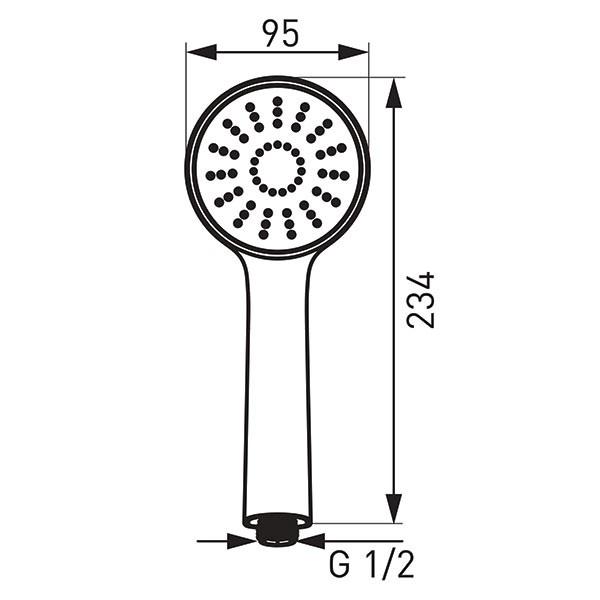 Bello 1F - pară duș mobilă cu 1 funcție