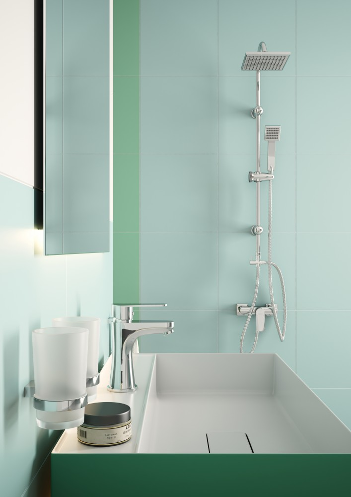 Squerto - set de duș cu duș fix și duș mobil culisant