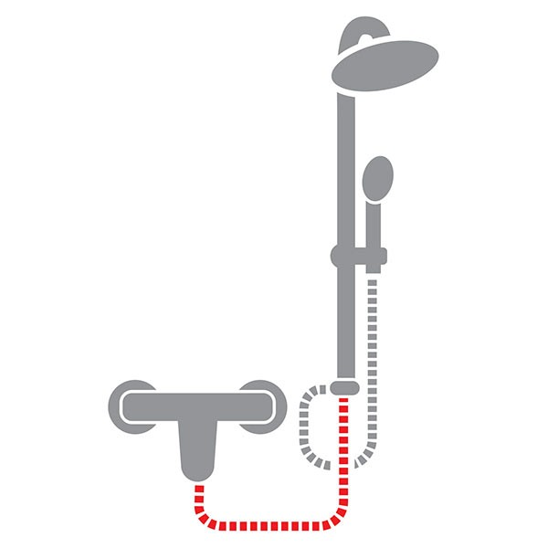 Furtun flexibil pentru duș, metalic