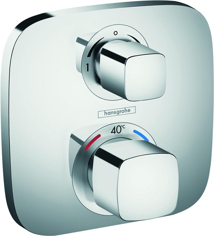 Baterie dus termostatata Hansgrohe Ecostat E incastrata, crom