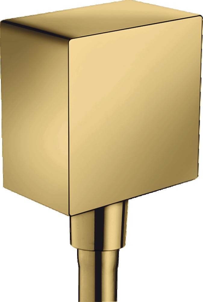 Conector furtun dus Hansgrohe FixFit Square, auriu lucios