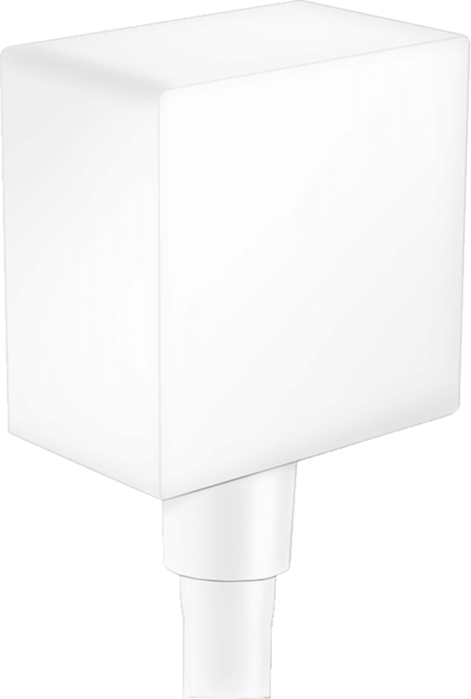 Conector dus Hansgrohe FixFit Square alb mat