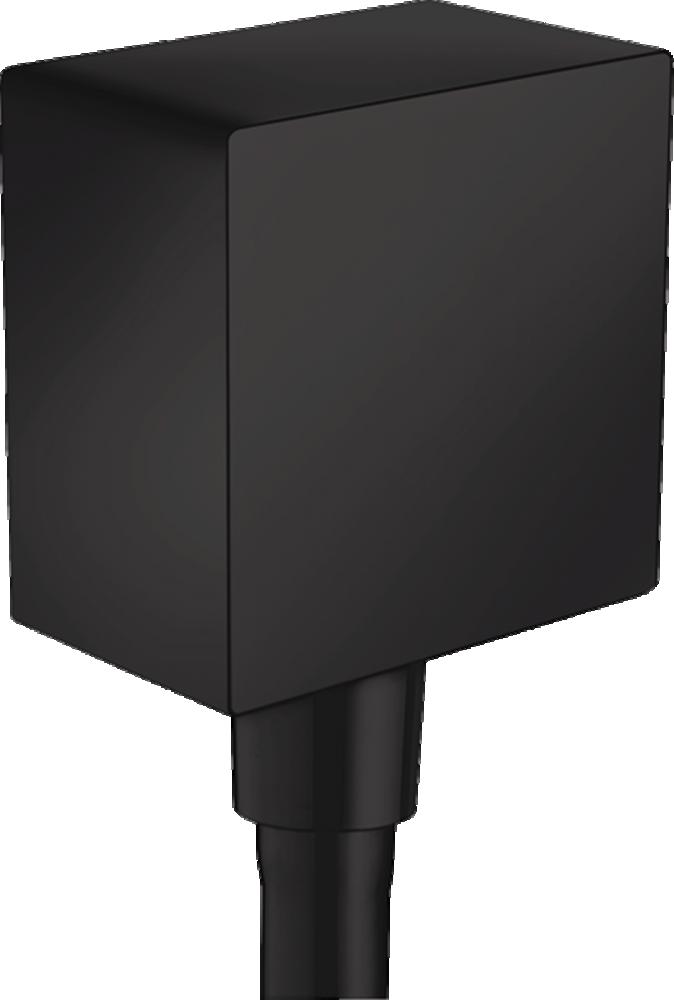 Conector dus HansgroheFixFit Square negru mat