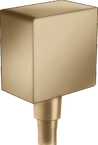 Conector dus Hansgrohe FixFit Square bronz periat