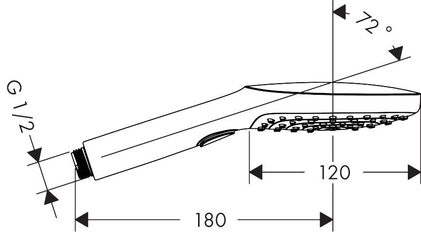 Para de dus Hansgrohe Raindance Select 120, 3 jeturi, alb mat