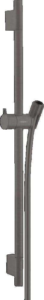Bara cu furtun de dus Hansgrohe Unica S Puro 65 cm, negru periat