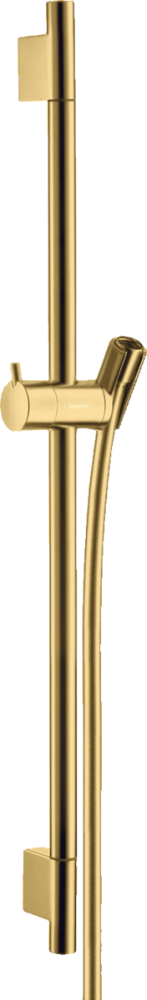 Bara cu furtun de dus Hansgrohe Unica S Puro 65 cm, auriu lucios