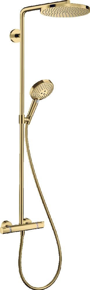 Coloana de dus cu termostat Hansgrohe Raindance Select S 240 auriu lucios