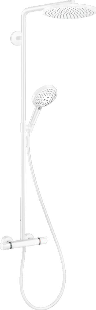 Coloana de dus cu termostat Hansgrohe Raindance Select S 240 alb mat