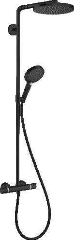 Coloana de dus cu termostat Hansgrohe Raindance Select S 240 negru mat
