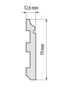 Plinta duropolimer Elegance LPC-07  8cm/2.44m
