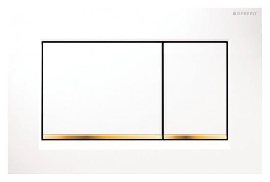 Clapeta actionare Geberit Sigma 30 Alb-Auriu-Alb