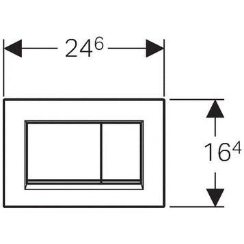Clapeta actionare Geberit Sigma 20  Negru-Negru mat