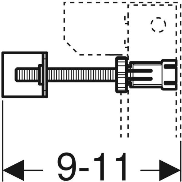 Set fixare rapida Geberit Duofix 8 cm