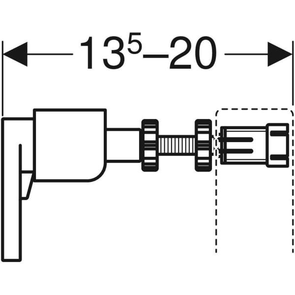 Set fixare rapida Geberit Duofix 12 cm