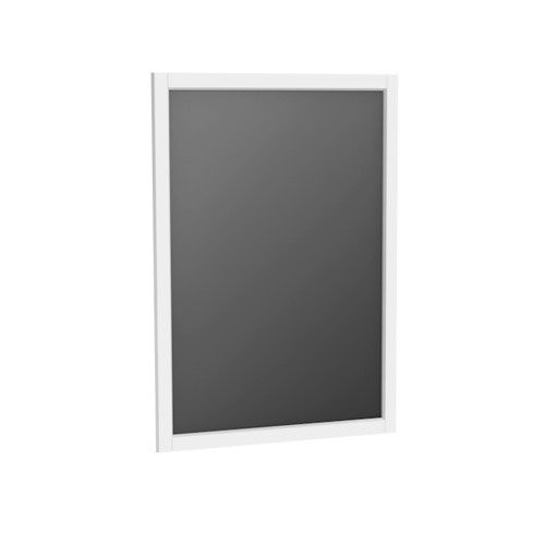 Oglinda cu rama Oristo Montebianco, 60x80 cm, alb mat