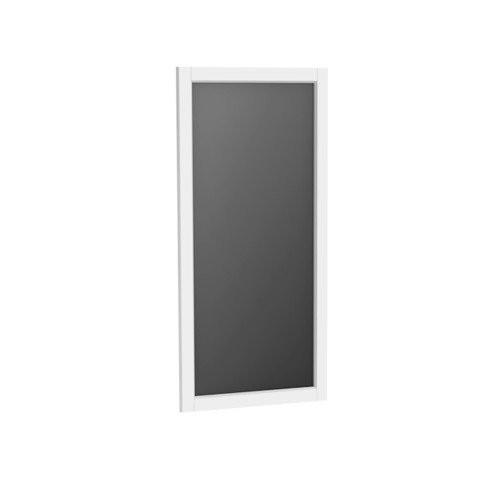 Oglinda cu rama Oristo Montebianco, 40x80 cm, alb mat