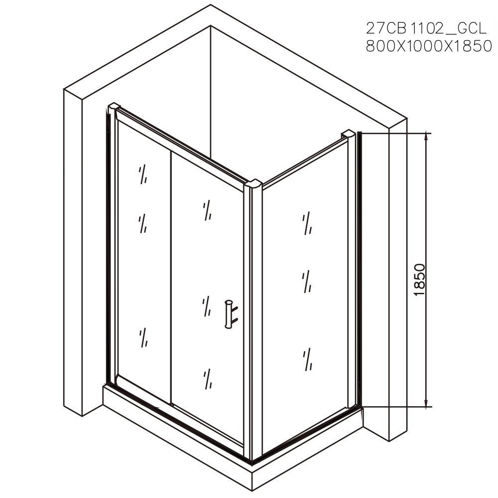 Cabina dus dreptunghiulara Belform Clear 100x80 cm, usa glisanta