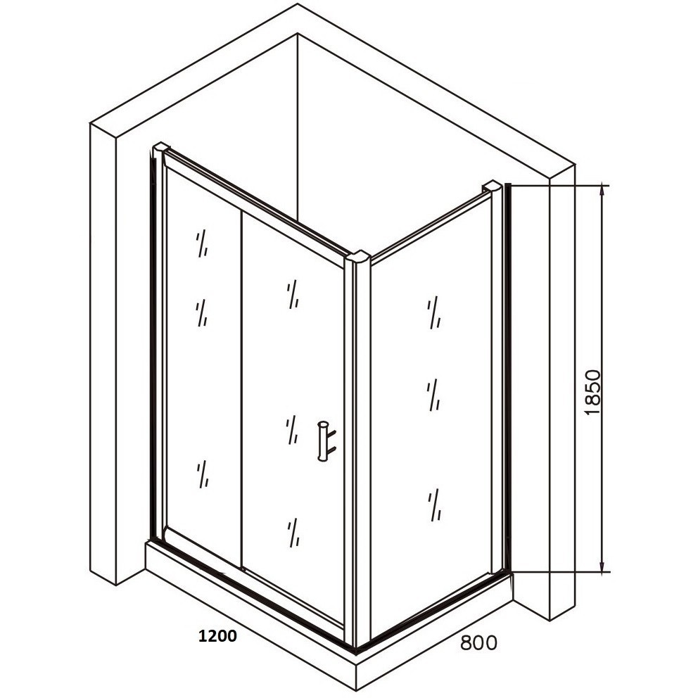 Cabina dus dreptunghiulara Belform Clear 120x80 cm, usa glisanta