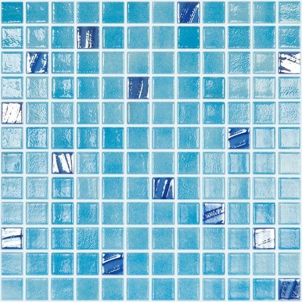 Mozaic sticla Mix Turquesa 501/734, 31.5x31.5 cm