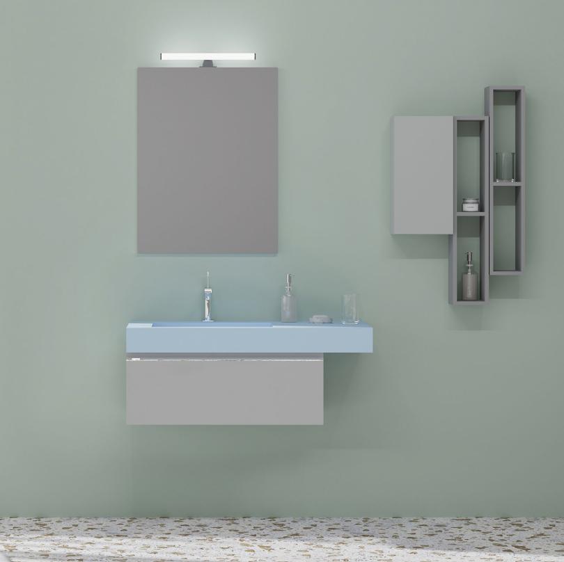 Oglinda cu lampa Savini 210/EL, 60x80 cm, reversibila
