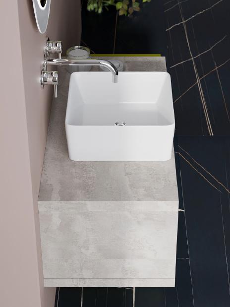 Blat pentru lavoar Savini 2801/21, 80 cm, beton