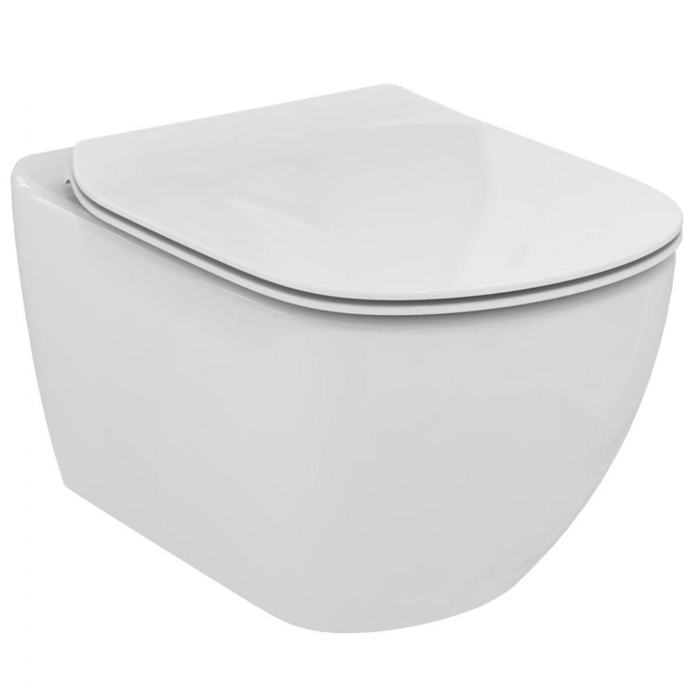 Vas wc suspendat Ideal Standard Tesi, Rimless, fixare ascunsa