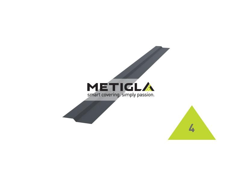 Brida suprapunere KPF4 Metigla - tabla prefaltuita