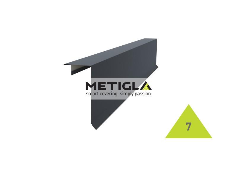 Bordura fronton tip 2 KPF7 Metigla - tabla prefaltuita