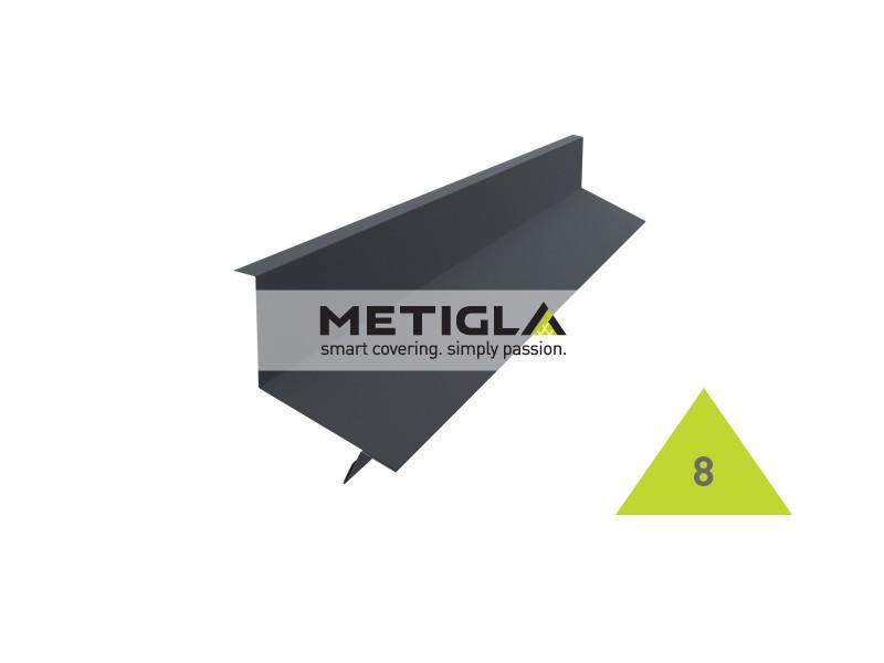 Bordura calcan de capat KPF8 Metigla - tabla prefaltuita