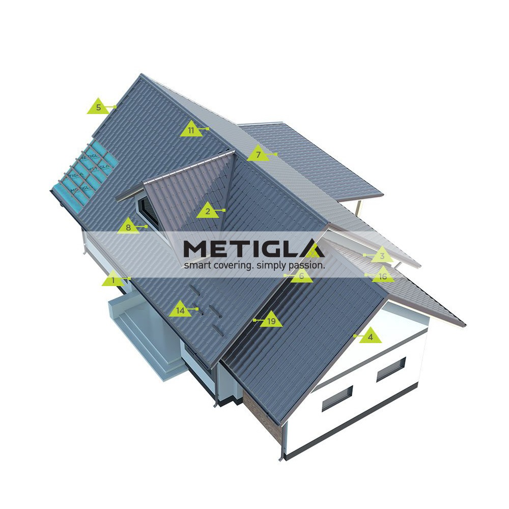 Bordura fronton interioara  MPF4 Metigla - tigla metalica
