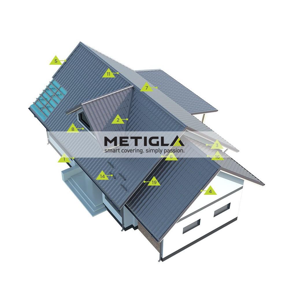 Bordura rupere panta  MPF7 Metigla - tigla metalica