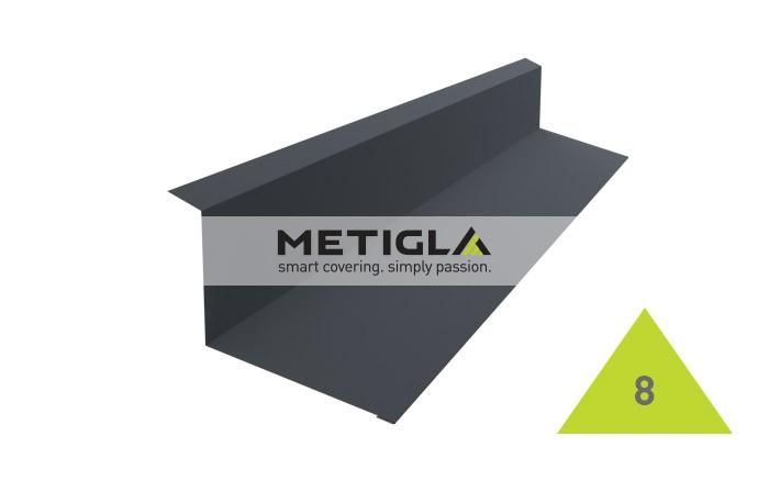 Bordura calcan  MPF8 Metigla - tigla metalica