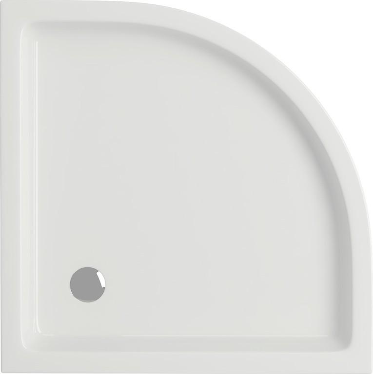 Cadita de dus semirotunda Cersanit Tako 80x80x4 cm
