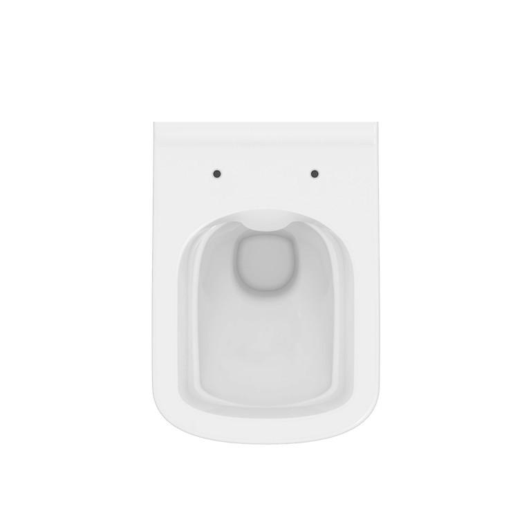 Vas WC suspendat Cersanit City Square Clean-On, fixare ascunsa