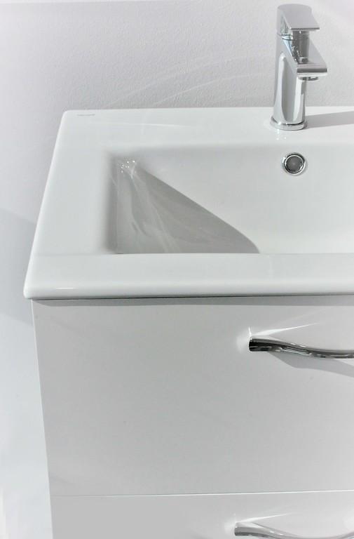 SET A77 Mobilier suspendat + lavoar Cersanit Capri Ontario 60 cm, alb